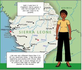 Pixton panel with map